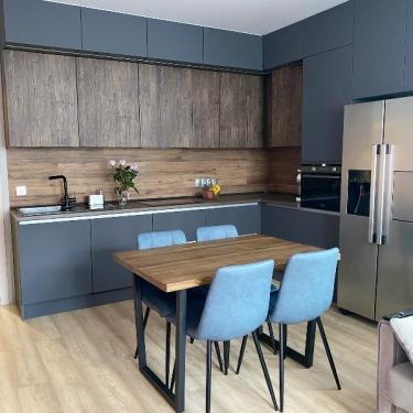 Кухонный гарнитур Диамант серый