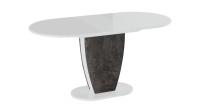 Стол Монреаль Тип 1 (Белый глянец/моод темный)