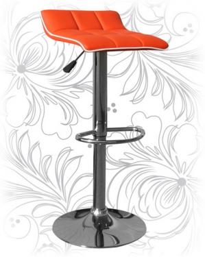 Барный стул 5014 оранжевый с белым