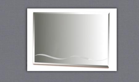 Зеркало над комодом прямоугольное с рисунком (волна)